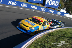 Paul Radisich and Craig Lowndes at the Cutting during Sunday's Warm Up