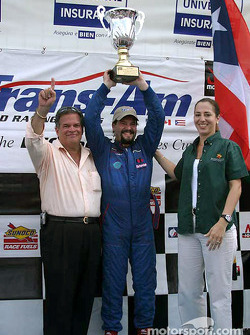 Podium: race winner Wally Castro