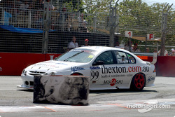 David Thexton overshoots the Chicane