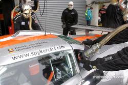 Refuel practice at Spyker Automobielen