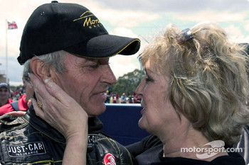 Race winner Peter Brock.