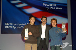 BMW Motorsport party: Dr Mario Theissen with BMW Prize winners Ho-Pin Tung and Kyoug-Ouk You