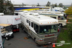Motorhomes in the paddock