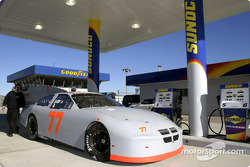 Ryan Hemphill was the first driver to use the new Sunoco gas pumps at Daytona International Speedway