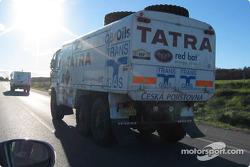 Loprais Tatra team on the road