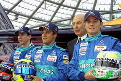 Neel Jani, Felipe Massa, Peter Sauber and Giancarlo Fisichella