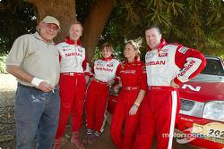 René Metge, Ari Vatanen, Tina Thorner, Isabelle Patissier and Colin McRae