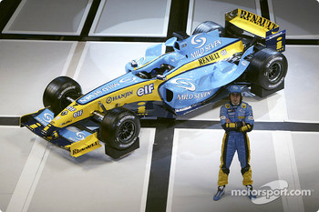 Fernando Alonso with the new Renault R24