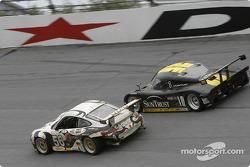 #56 Seikel Motor Sport Porsche GT3 RS: Tony Burgess, Philip Collin, P van Merksteijn, Gabrio Rosa, Fabio Rosa, and #10 SunTrust Racing Pontiac Riley: Wayne Taylor, Max Angelelli, Emmanuel Collard