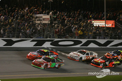 Green flag: Jeremy Mayfield leads Jeff Gordon