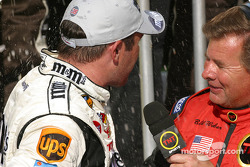 Bill Weber tries an interview with Elliott Sadler