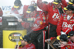 Champagne shower for Dale Earnhardt Jr.
