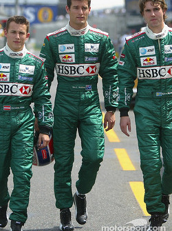 Christian Klien, Mark Webber and Bjorn Wirdheim