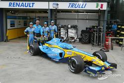 Jarno Trulli, Flavio Briatore, Fernando Alonso and Franck Montagny