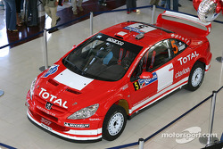 Peugeot 307WRC on display