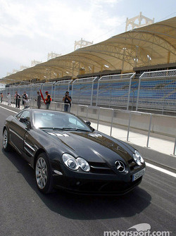 Jean Alesi with the Mercedes-Benz SLR McLaren