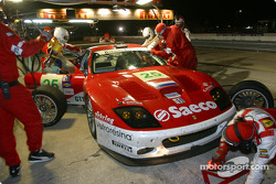 Pitstop for #25 Barron Connor Racing Ferrari 575 GTC: John Bosch, Danny Sullivan, Thomas Biagi