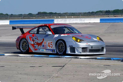 #45 Flying Lizard Motorsports Porsche 911 GT3RS: Johannes van Overbeek, Darren Law, Jon Fogarty