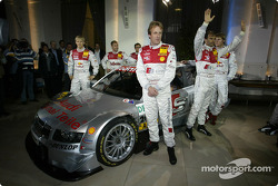The Audi works drivers with the new Audi A4 DTM