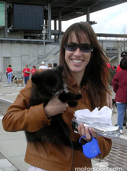 Kati Castroneves and her pal