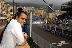Juan Pablo Montoya in the reconfigured pitlane