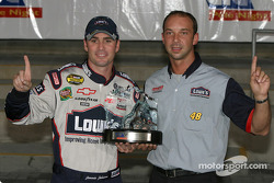 Pole winner Jimmie Johnson and crew chief Chad Knaus