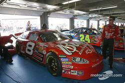 Dale Earnhardt Jr. in the garage