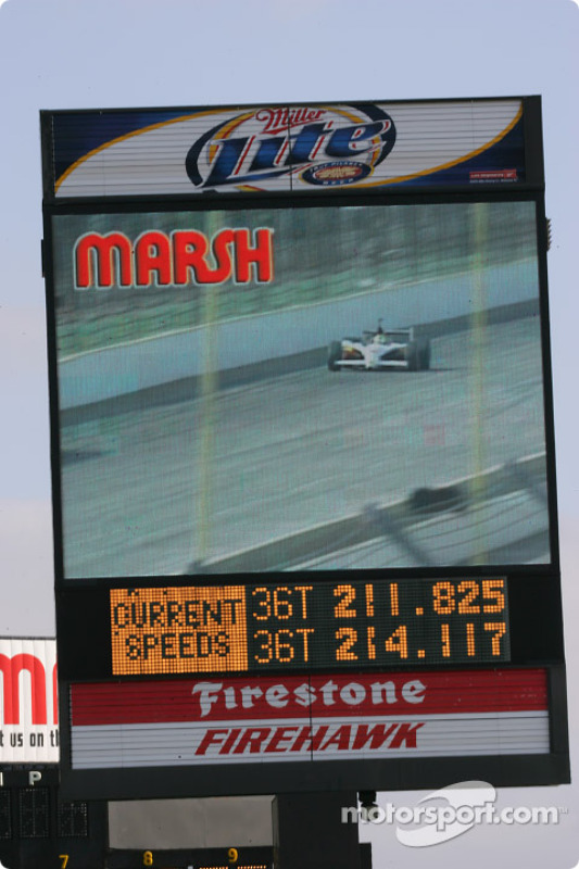 Video Message Board At The Indianapolis Motor Speedway At