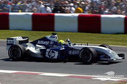 Ralf Schumacher celebrates pole position