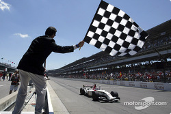 Takuma Sato takes checkered flag for third place