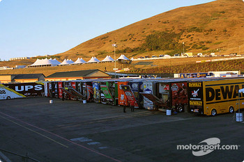 Haulers wait in the paddock for their crews