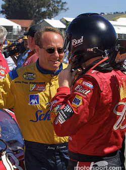 Dale Earnhardt Jr. and Ken Schrader