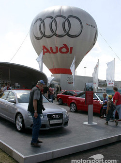 Audi display in the Norisring paddock