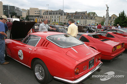 Ferraris on display at the parade