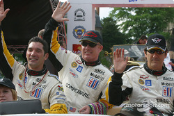 Max Papis, Johnny O'Connell and Ron Fellows