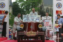 William Binnie, Rick Sutherland and Clint Field have to push their parade car