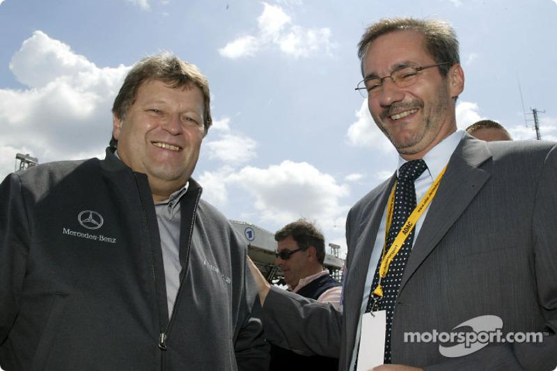 Norbert Haug on the starting grid