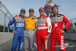 Opel drivers: Marcel Fassler, Jeroen Bleekemolen, Timo Scheider and Heinz-Harald Frentzen