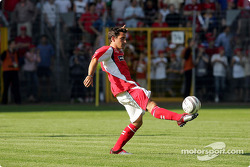 F1 and RTL Superstars UNESCO Charity Football match, Carl Benz Stadium, Mannheim, Germany: Timo Glock