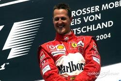 Podium: race winner Michael Schumacher