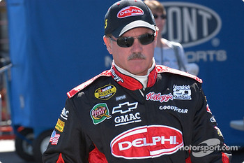 Terry Labonte walks through the pits before qualifying