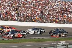 Pack racing late in the race