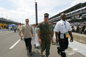 General Hagee walks down the pitlane