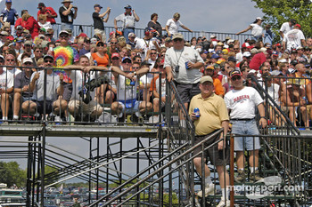 NASCAR fans fill the stands near turn one