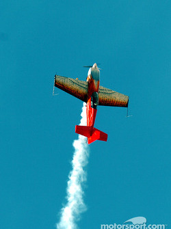 Stunt pilot performing for the crowd