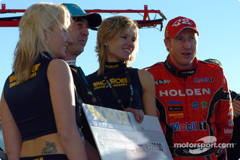 Mark Skaife receives the Monroe Pole award
