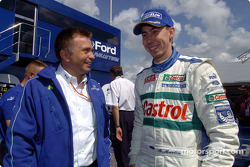 Markko Martin chats with Ford Team RS director Jost Capito