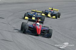Jesse Mason leads Al Unser and Phil Giebler