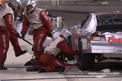Sterling Marlin in for a pitstop late in the race
