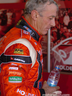 An exhausted Peter Brock